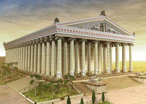 De tempel van Artemis was een kolossale tempel gebouwd door Kroisos in 550 voor Christus ter ere van Artemis (de godin van de jacht, de natuur en de geboorte). De tempel van Artemis was versierd met prachtige bronzen beelden die gemaakt waren door de beste kunstenaars van die tijd en de tempel had een afmeting van 110 x 55 meter. De tempel van Artemis stond in Efese, bij de huidige stad Selçuk, ongeveer 50 kilometer ten zuiden van Izmir (Smyrna) in Turkije.