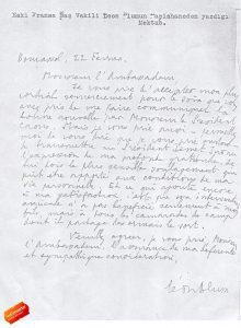 De brief die Blum schreef naar Erkin