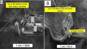 Het vermoedelijke bewijsstuk bleek een asfaltfabriek te zijn in Kilis, een stad in het zuidoosten van Turkije.